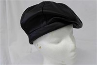 """Leather Beret 22.75"""" Retail $125.00"""