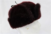 """Dyed Seal Plum hat size 23"""" Retail $250.00"""