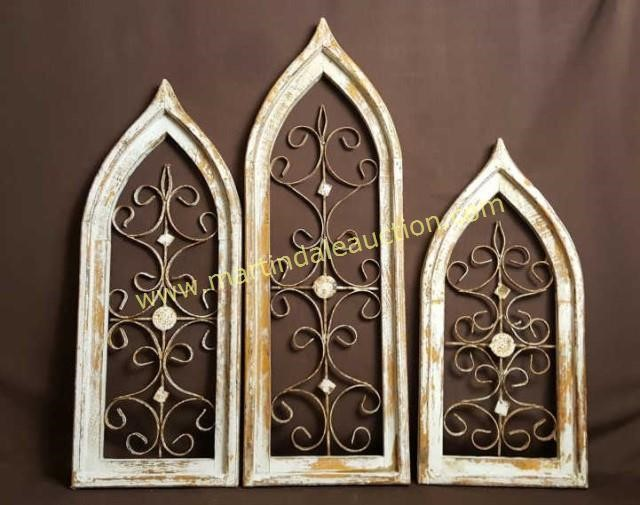 3 Cathedral Window Style Metal Art Wood Frames Martindale
