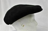 Black Suede Sheepskin hat Retail $77.00