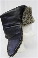 """Shearling Leather hat size 22.5"""" Retail $130.00"""
