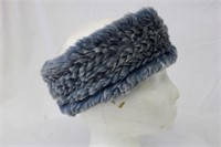 Rabbit denim colour  headband Retail $45.00