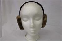 Sheared Mink Paw ear muffs Retail $80.00