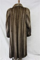 Used Let Out Muskrat coat size16 Retail $1000.00