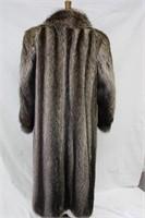 Used Raccoon full length coat SM Retail $800.00