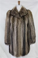 Used Raccoon car coat size 8 Retail $700.00