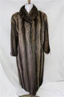 Used Raccoon full length coat size Large Retail