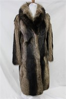 Used Raccoon full length coat size small Retail