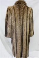 Used Raccoon full length coat size medium