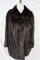 Used dyed Muskrat backs size large car coat