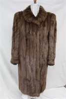Used dyed Muskrat backs coat  Lg Retail $800.00