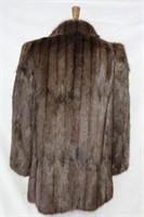 Used dyed Muskrat car coat  Lg Retail $800.00