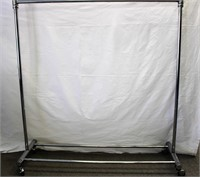 "60"" wheeled clothes rack"