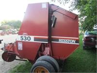Hesston 530 round Baler - 540 pto | HiBid Auctions