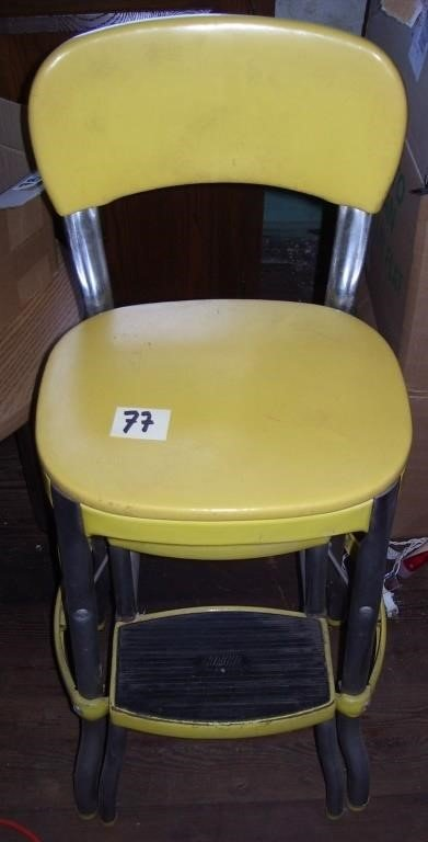 Awe Inspiring Vintage Cosco Yellow Step Stool Birmingham Auctioneers Ocoug Best Dining Table And Chair Ideas Images Ocougorg
