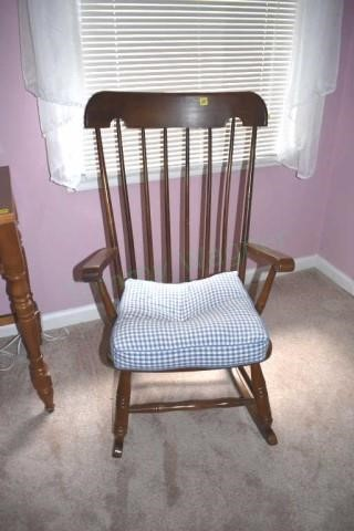 Magnificent Rocking Chair Virginia House Tommy Wagner Auctions Gmtry Best Dining Table And Chair Ideas Images Gmtryco