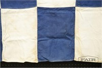 Pair of WWII Era Checkerboard Naval Flags