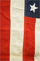 Bull Dog Bunting Vintage 48 Star Cotton Flag