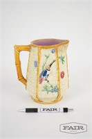 Painted Ceramic Pitcher with Hummingbird