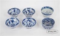 6 Japanese Ceramic Sake Cups/Dishes