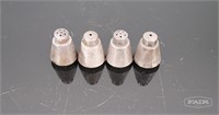 Set of Four Silver Toyokoki Salt & Pepper Shakers
