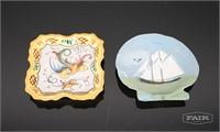 Pair of Handmade Painted Plates