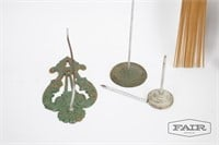 Wood and Metal Decorative Items Lot