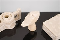 Small Collection of Carved Soapstone Pieces