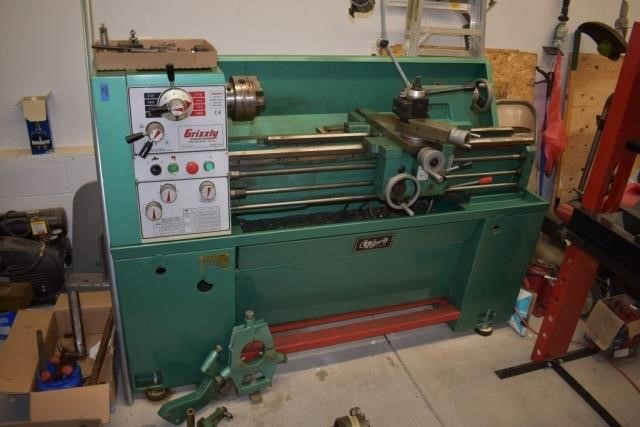 Grizzly 14x40 Single Phase Lathe | Schweitzer Auction Service