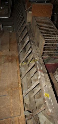 Vintage Wooden Extension Ladder H K Keller