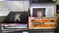 Shelf Of Assorted Vinyl Records