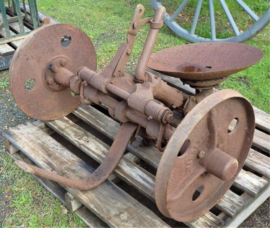 Chandler horse drawn disc plough, incom plete | HiBid Auctions