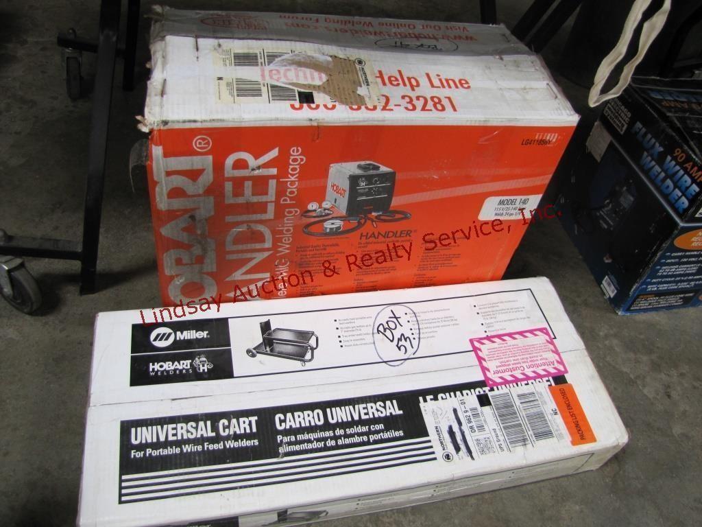 NIB Hobart handler mod: 140, 115v wire welder, | Lindsay