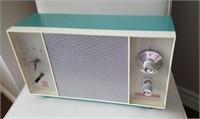 Mid Century Marconi Turquoise Clock Radio