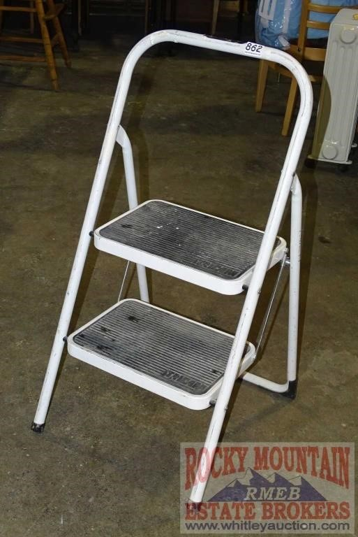 Cool Tricam Folding Step Stool Auctioneers Who Know Auctions Machost Co Dining Chair Design Ideas Machostcouk