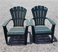 2 Plastic Patio Chairs