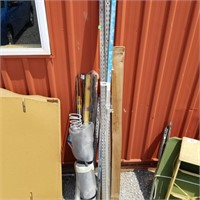 Mixed Lot Of Misc. Shelving Brackets, Boom Pole,