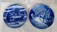 2 Kaiser Christmas Plates Made In Germany