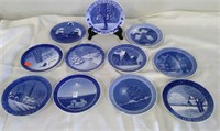 Group Of 11 Royal Copenhagen Hand Painted Plates