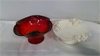 Grouping Of Pottery Vases Fruit Plate