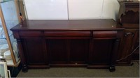 Grand Antique Mahogany Sideboard 4 Doors 3 Drawers