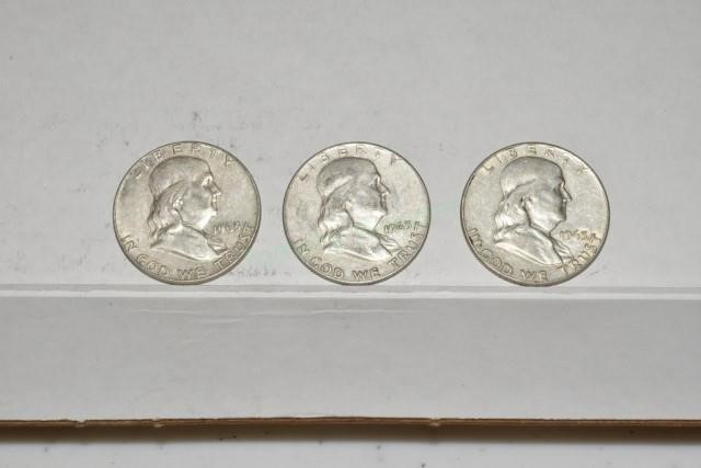 Franklin 1/2 Dollars, 3- 1963 D | Tommy Wagner Auctions