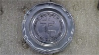 Pewter Plate,  Brethren In Christ Church 1978,