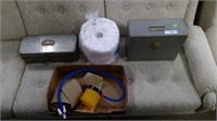 Tackle Box With Contents, Metal File Box,