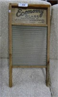 Antique Economy Glass Washboard