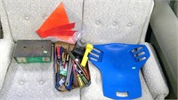 Box Of Assorted Tools Backrest, Battery Charger