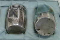 6 Vintage Sterling Silver Salt And Pepper Shakers