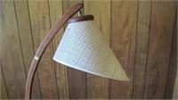 Teak Curved 3 Leg Floor Lamp Danish Design