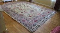 Heavy  Fringed  Area Carpet 9' X 12'