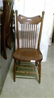 High Back Wood Side Chair